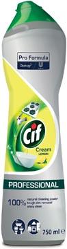 Cif schuurcrème lemon, flacon van 750 ml