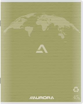 Aurora Writing 45 kladschrift uit gerycleerd papier, 96 bladzijden, gelijnd, mosgroen