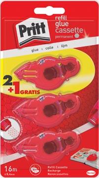 Pritt vulling voor lijmroller Refill permanent, blister 2 + 1 gratis