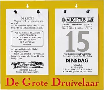 Dagblokkalender De Grote Druivelaar, ft A3, Nederlandstalig, 2022