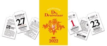 Dagblokkalender De Druivelaar 2022, display van 30 stuks