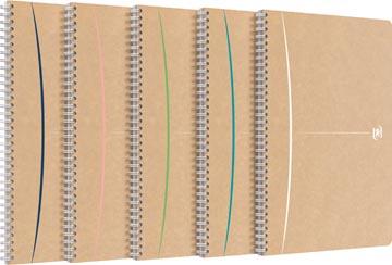 Oxford Touareg spiraalschrift, 180 bladzijden, ft A4, gelijnd, geassorteerde kleuren