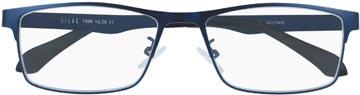 SILAC Blue Metal leesbril, mat nickelvrij blauw metaal, +3,00