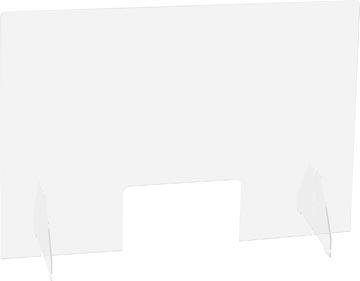 Exascreen beschermwand voor adem/sputum, glashelder, staand, ft 95 x 58 cm