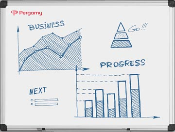 Pergamy Excellence emaille magnetisch whiteboard ft 60 x 45 cm