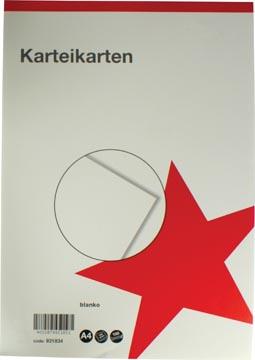 STAR witte systeemkaarten ft A4, blanco, 100 stuks