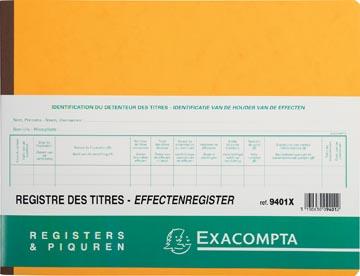 Exacompta aandeelhouders, ft 24 x 32 cm, tweetalig, voor BV-SRL