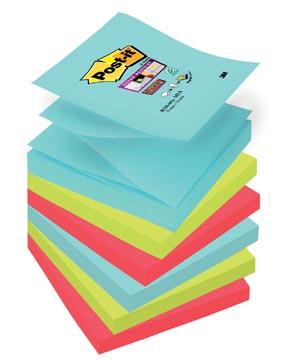Post-it Super Sticky notes Miami, ft 76 x 76 mm, 90 vel, pak van 6 blokken